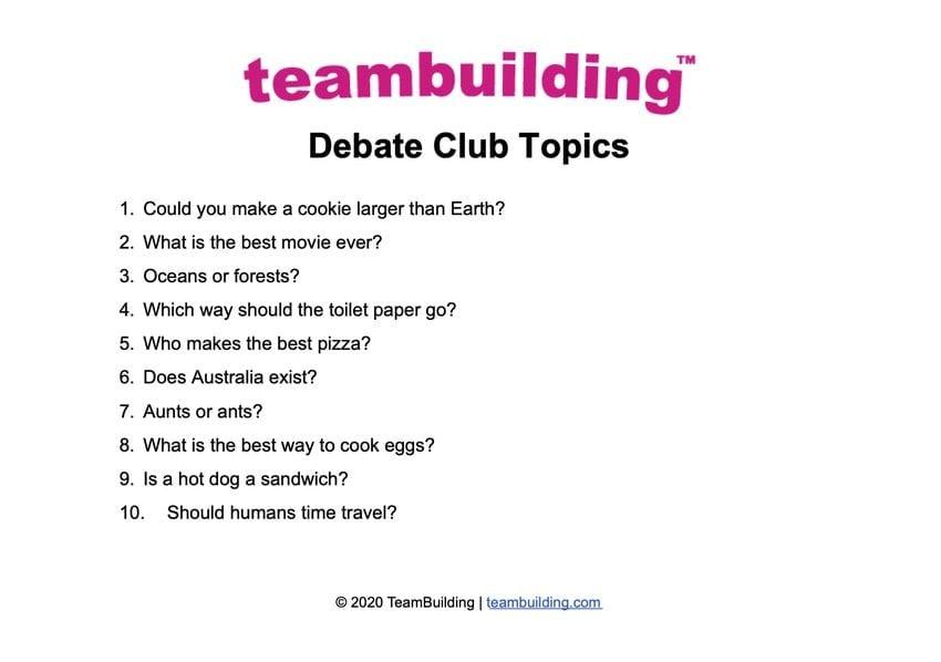 debate club topics