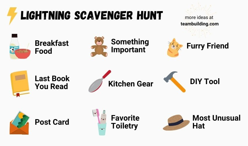 Lightning Scavenger Hunt game card