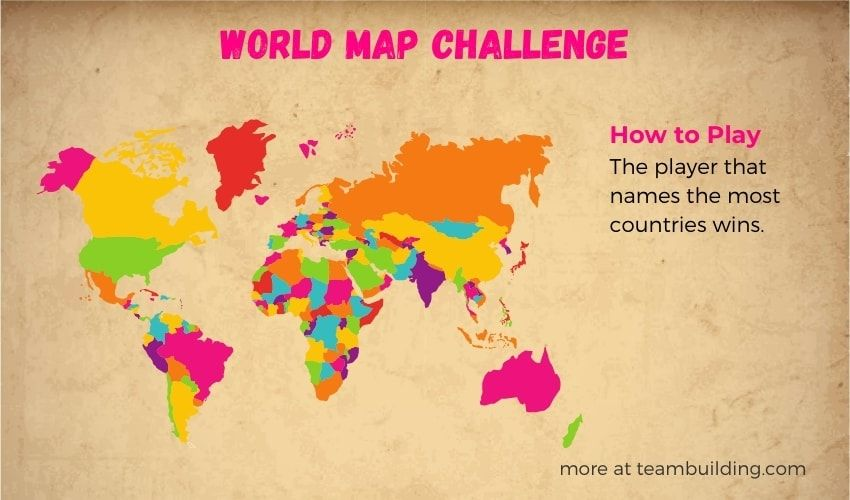 world map challenge