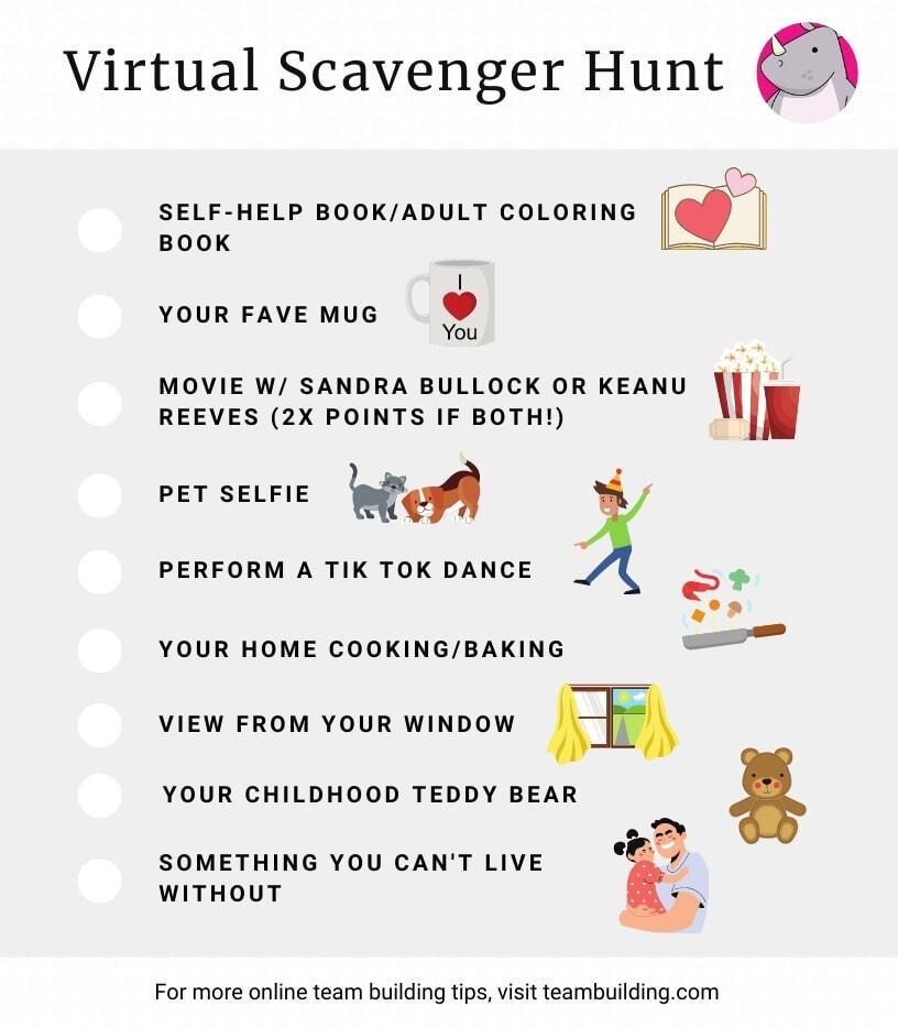 Virtual scavenger hunt ideas