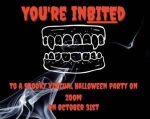 virtual Halloween party invitations