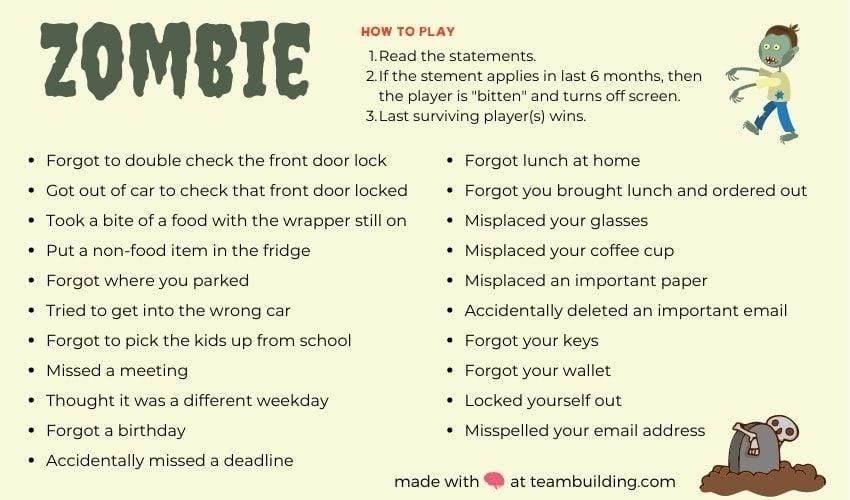 Zombie Halloween game