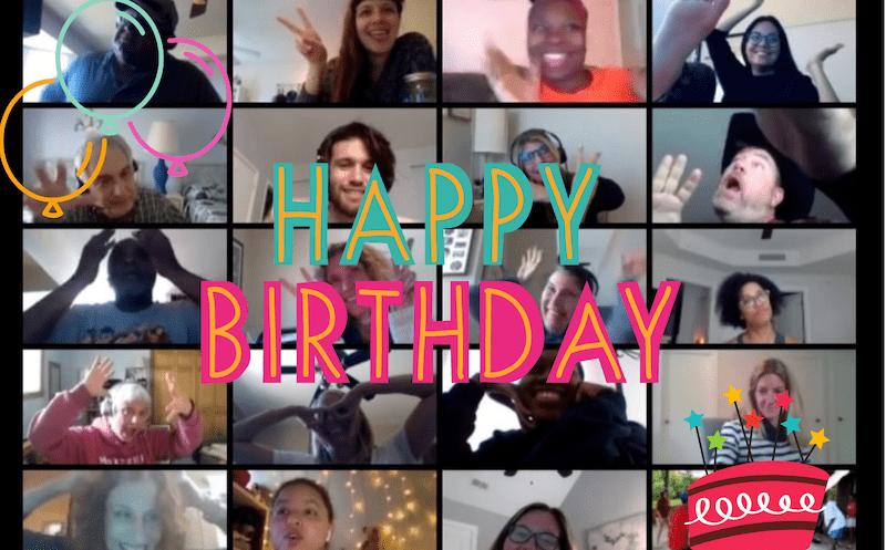 Online surprise party