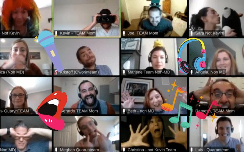Virtual birthday karaoke