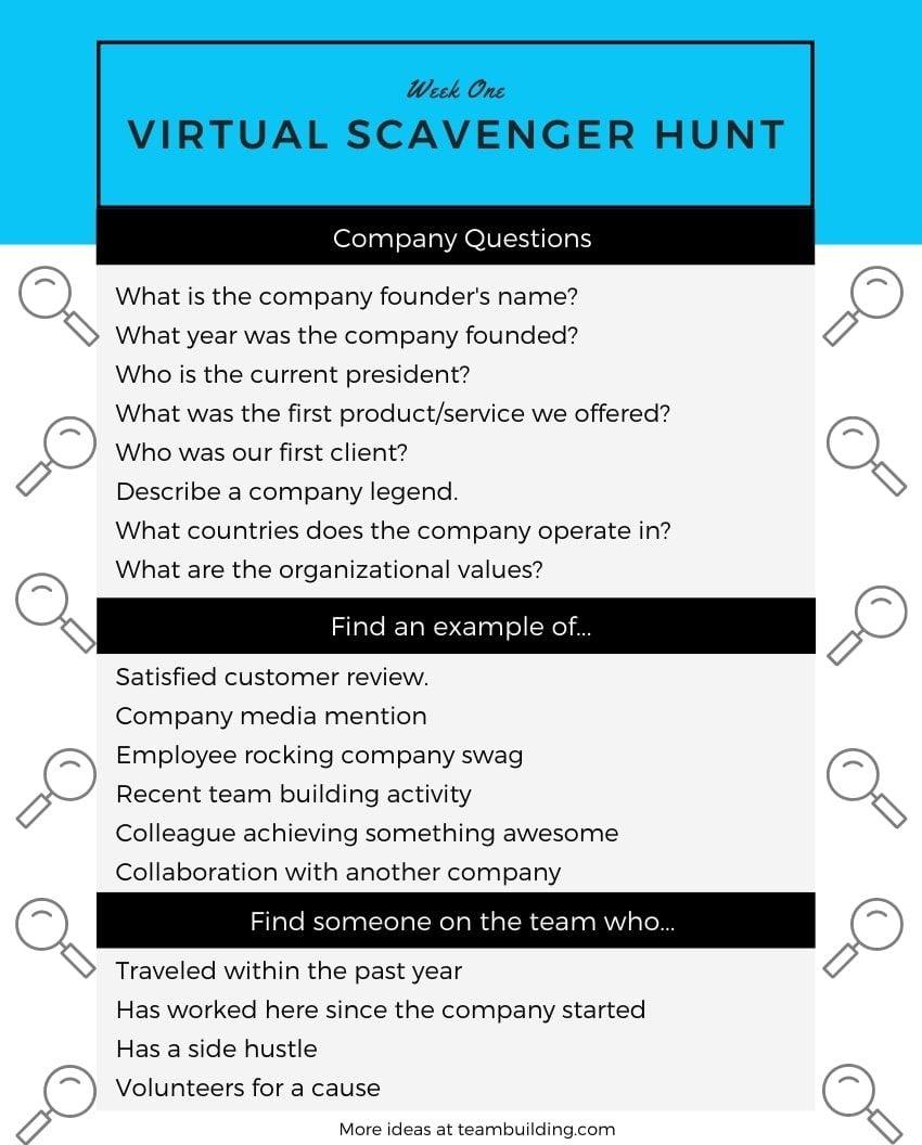 virtual onboarding scavenger hunt