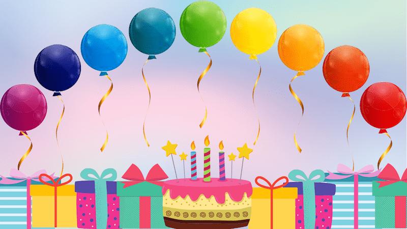 Zoom birthday background