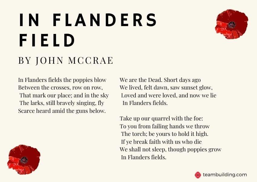 In Flanders Fields poem