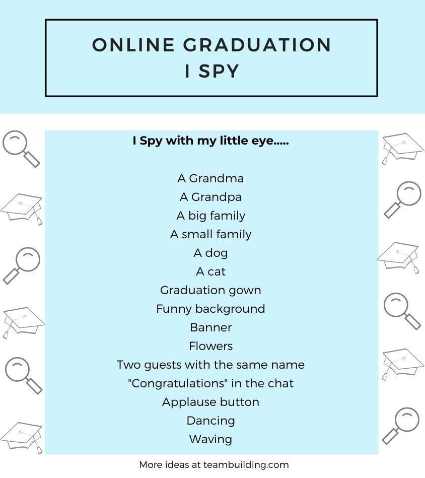 Virtual Graduation I Spy Game Template