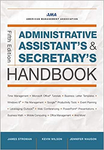 The Administrative Secretary's Handbook