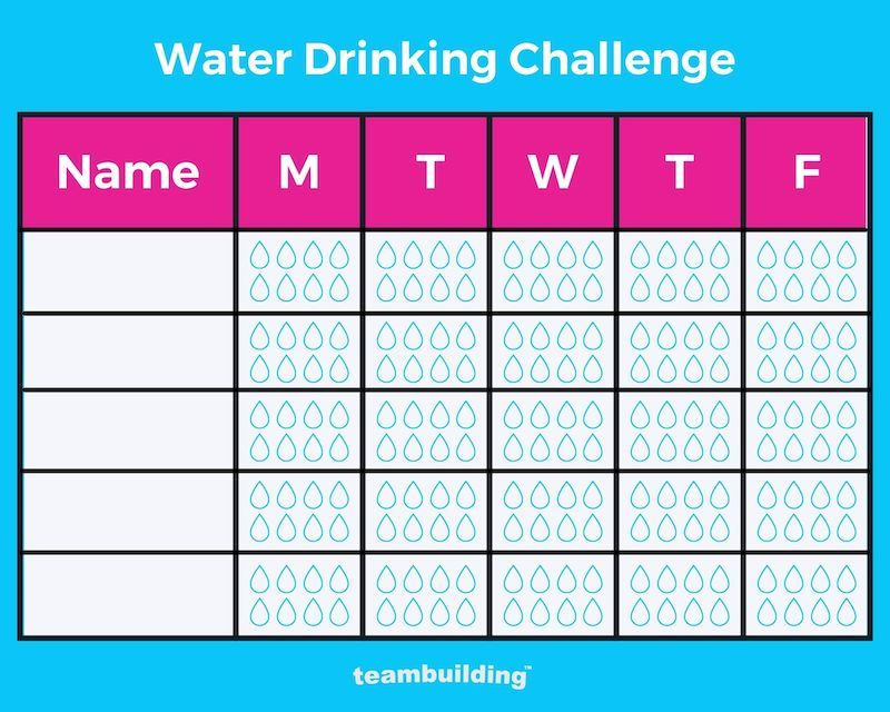 Water Drinking Challenge Template