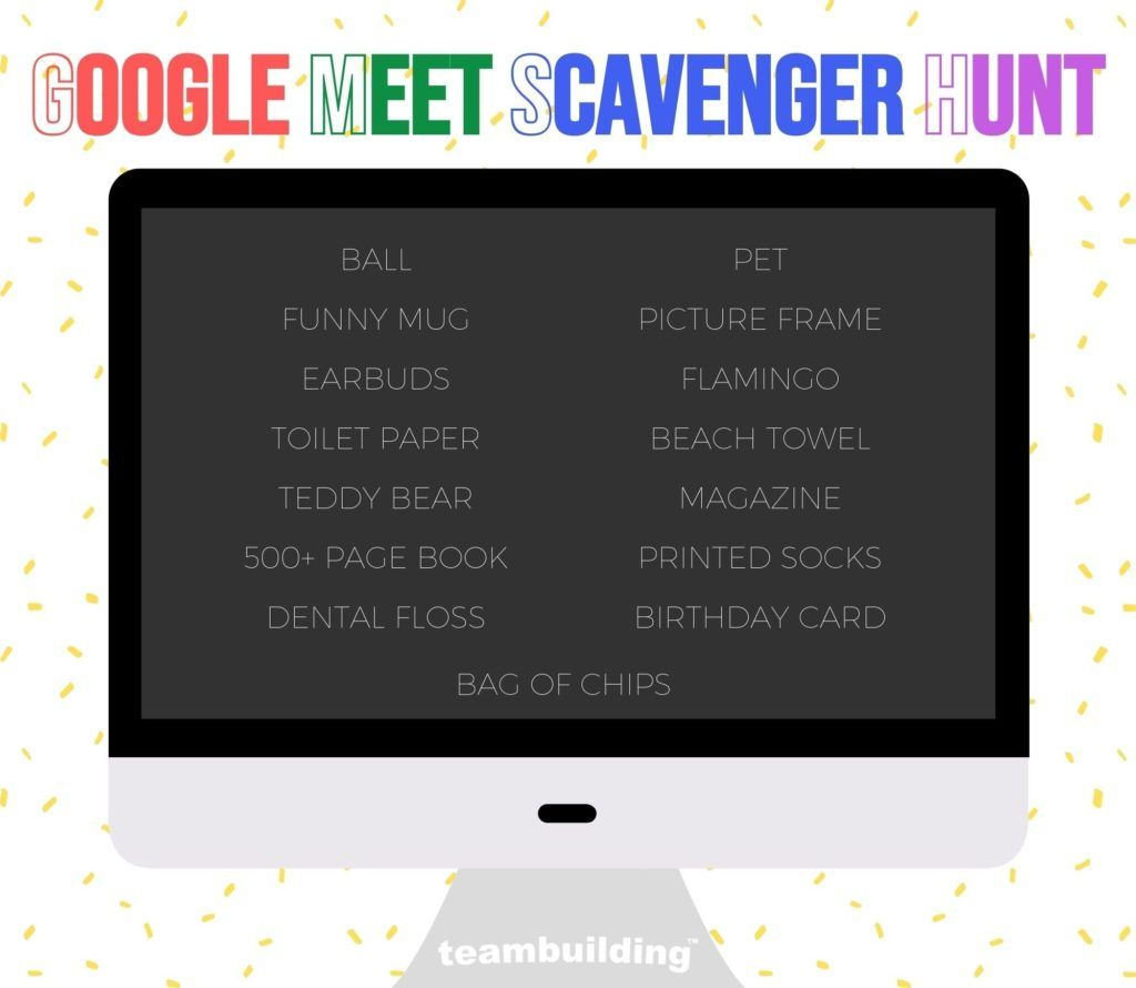 Virtual Google Meet Scavenger Hunt