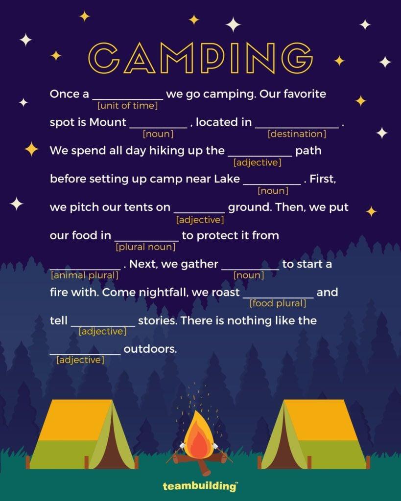 Campfire Mad libs2