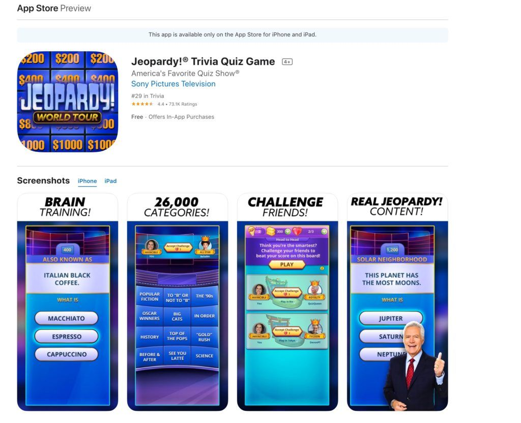 Jeopardy app