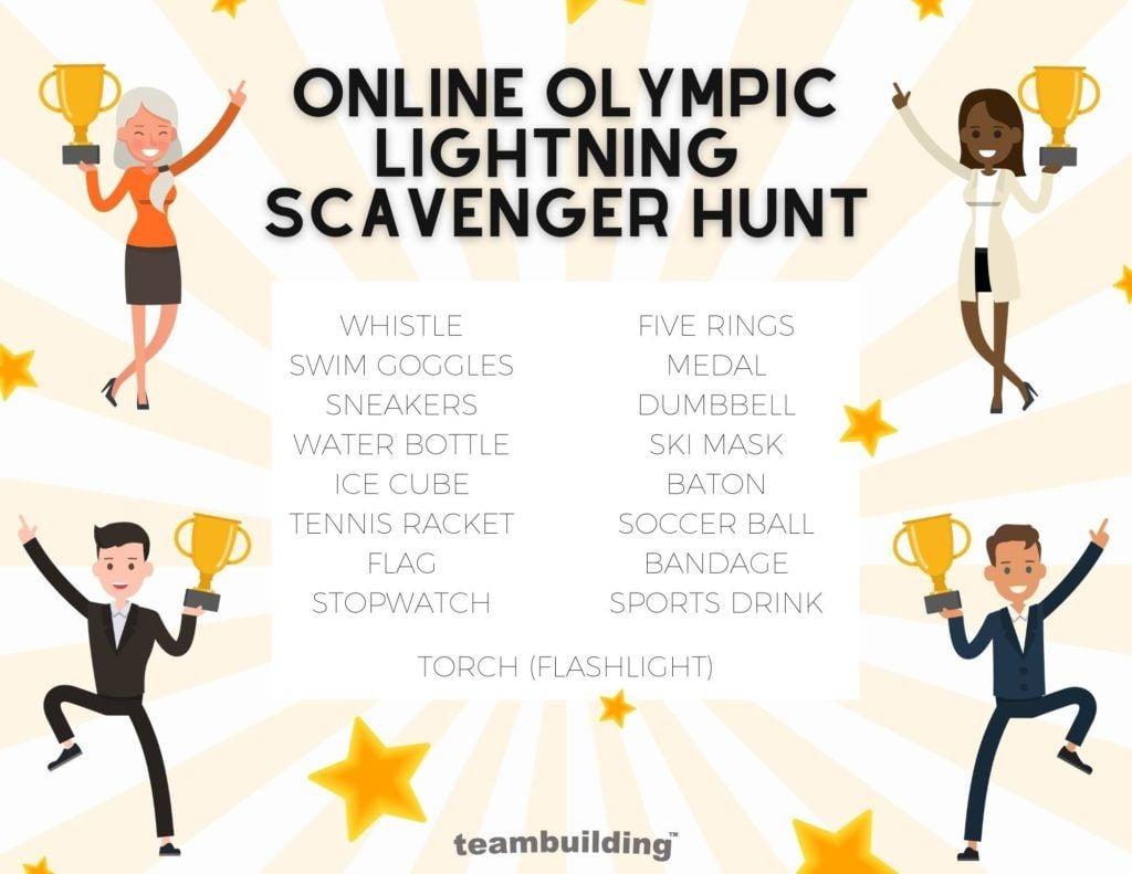 Online Olympic Lightning Scavenger Hunt Clues
