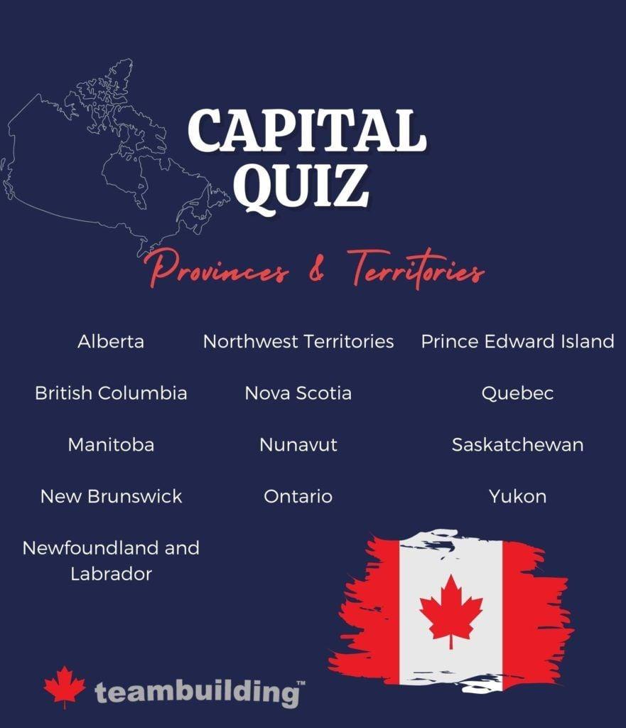 Capital Quiz Provinces