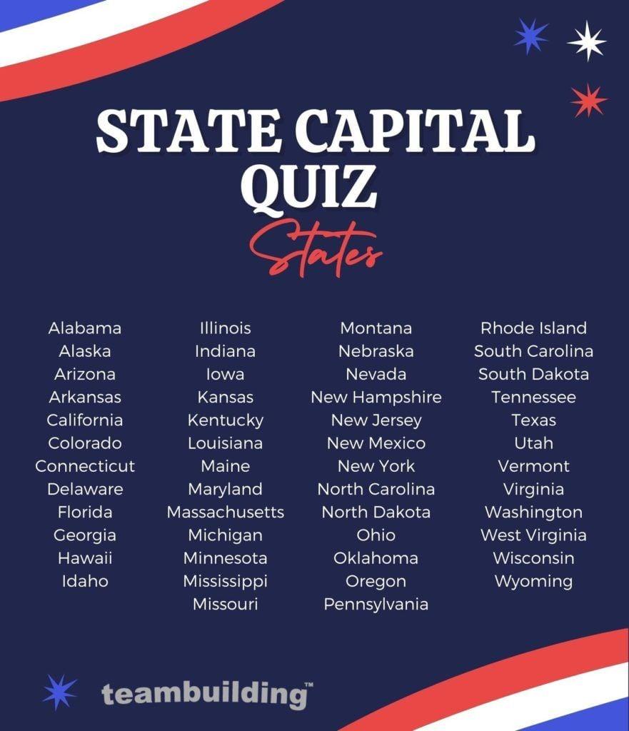 State capital quiz states
