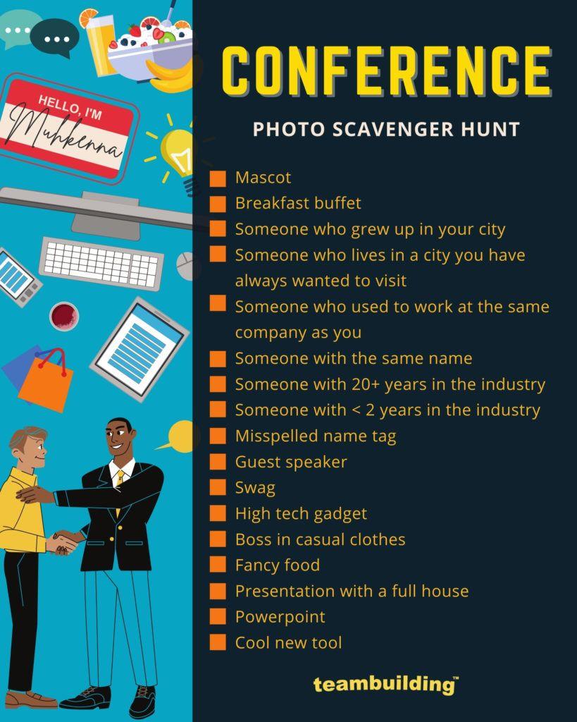 Conference Scavenger Hunt Template