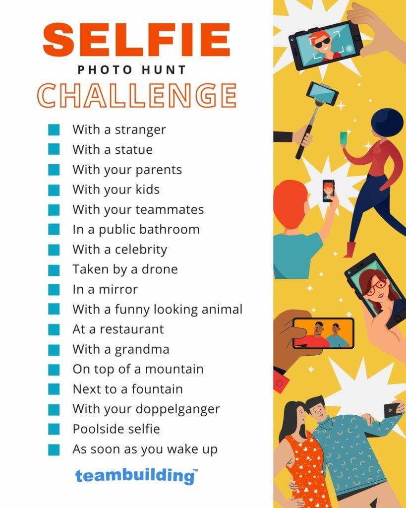 Selfie Scavenger Hunt Template