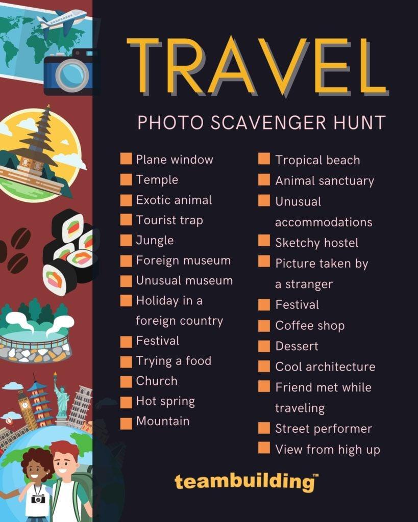 Travel Scavenger Hunt Template
