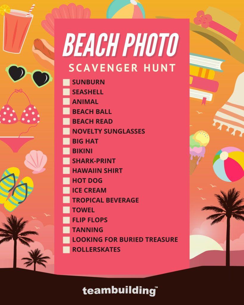 Beach Scavenger Hunt Template