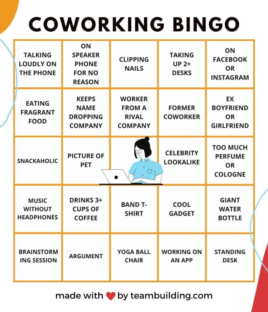 Coworking Bingo Board