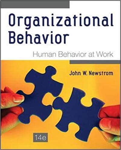 Organizational behavior human behavior at work book cover