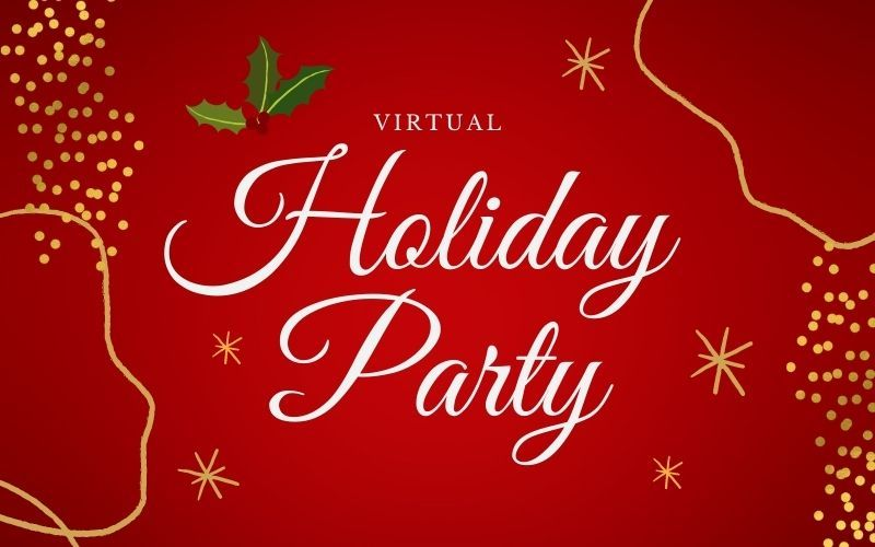 Virtual Holiday Party 2021 banner