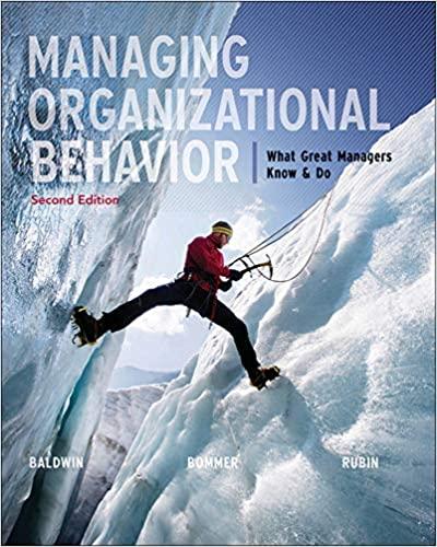managing organizational behavior book cover