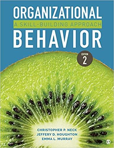 organizational behavior a skill building approach book cover