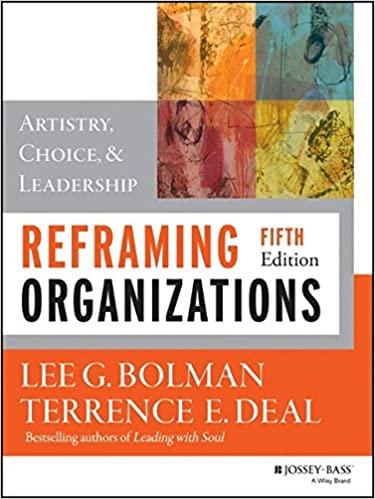 reframing organizations book cover