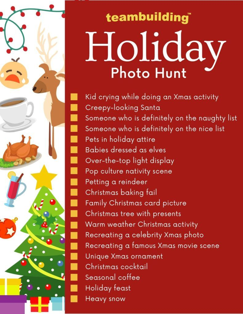 Holiday Photo Hunt template
