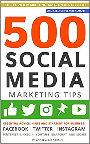 500 social media marketing tips book cover